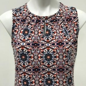 NWT Petite Colorful Print Short Sleeve Blouse